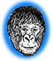 bright blue gorilla